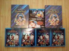 LOT blu-ray DVD DISNEY neuf sous blister en édit fr blanche neige fantasia