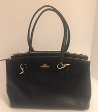 COACH Christie Carryall Midnight Navy F36606 Crossgrain Leather Shoulder Bag