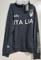 Rara Felpa Zipper Jacket basket Pallacanestro Italia Spalding Olimpiadi NUOVA