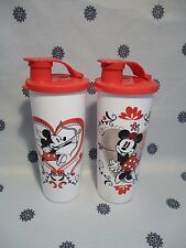 Tupperware Mickey & Minnie Mouse 470ml Tumbler Cup Set or 2 New