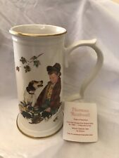 Norman Rockwell Collectors Stein Coa Gorham Pride Of Parenthood Boy Dog Cup Mug