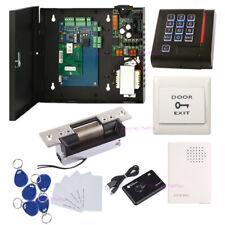 1 Door Access Control Entry Systems Kit ANSI Strike Lock Power Box Keypad Reader