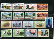 St.Vincent Small Collection Set Of 17 Stamps Mnh