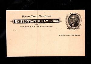 EDSROOM- 5354 UNITED STATES Cuba UX1 Mint Postcard Unused CV $15
