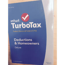 TurboTax Deluxe 2014 Federal + Fed Efile Turbo Tax Preparation Intuit PC or Mac
