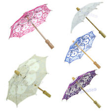 Elegance Lace Embroidered Parasol Umbrella For Bridal Wedding Party Decoration s