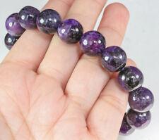 12mm Natural Purple Charoite Round Bead Bracelet BCH178