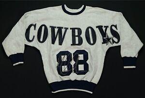 Rare Vintage LEGENDS Athletics Michael Irvin Dallas Cowboys Sweatshirt 90s NWT M