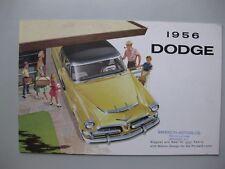Dodge Mayfair Regent Crusader prestige brochure Prospekt English20pg 1956 Canada