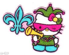 "2"" HELLO KITTY SANRIO STATE OF USA NEW ORLEANS LOUISIANA FABRIC APPLIQUE IRON ON"