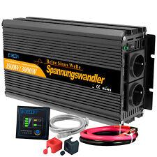 Inversor ONDA PURA 1500W 3000W 12V 220V Converditor Transformator Cámping USB