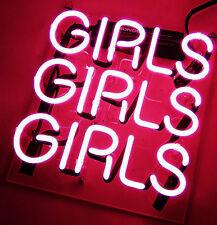 GIRLS GIRLS GIRL Neon Sign Light Glass Home Room Coffee Beer Bar Club Pub Poster