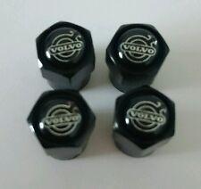 VOLVO Black Wheel Tyre Valve Dust Caps for S40 S60 V70 V60 V40 XC90 XC C30 R