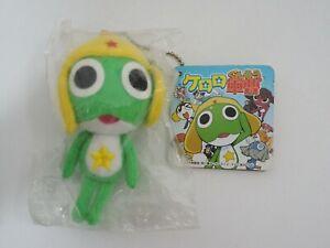 "Keroro Gunso Sergeant Frog Cube Mascot Keychain 4"" NEW SEAL Plush TAG Doll Japan"
