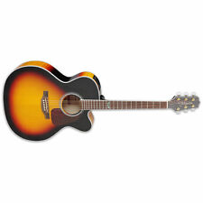 Takamine GJ72CE Gloss Brown Sunburst BSB Acoustic-Electric Jumbo Cutaway Guitar