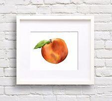 Peach Watercolor Art Print Kitchen Decor
