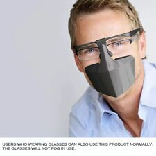 Mask Face Shield Anti Fog Reusable Anti Glasses Mist BLACK From USA to USA