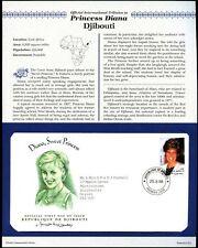 Djibouti 1998 Diana Princess Of Wales FDC + Info Card Page #V6543