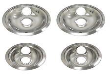 "4 Drip Pans Bowl Set 6"" & 8"" for Frigidaire Kenmore Whirlpool Stove Range Burner"