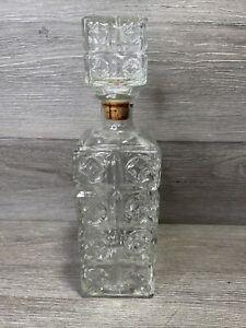 Vintage 1960's Four Roses Whiskey Glass Liquor Decanter Bottle - Thatcher Glass