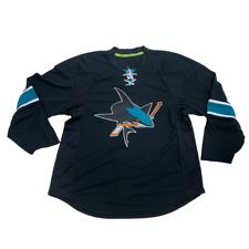 New NHL Reebok Authentic Edge San Jose Sharks Hockey Jersey Size 56 Black