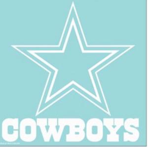 """Dallas Cowboys NFL Decal 8"""" x 8"""" Primary Team Logo Die Cut Car Sticker"""
