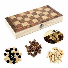 3in1 складные деревянные шахматы настольная игра Шашки нарды шашки большие