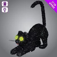 Schwarze Katze Mit Aufleuchtend Possessed Grün Augen Halloween Party Deko 11913