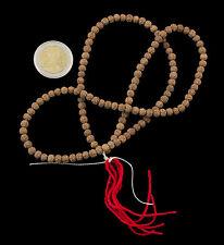 Collier rosaire  graines de Rudraksha Mala tibetain Shiva Sautoir Ø 5mm 1989 S4