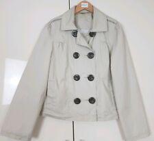TU Women's Coat Size 8 Stone Beige Cropped Jacket Button Down Spring Fashion