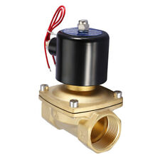 """1 Pcs DN40 1-1/2"""" Two Way Brass Electric Solenoid Valve N/C Type 220VAC 1MPa"""