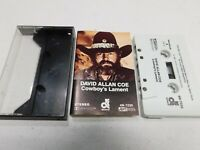 Rare David Allan Coe Cassette Cowboy's Lament Audio Tape 4N-7220