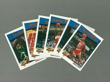 1991-92 NBA Hoops Slam Dunk Champion Complete Set (6 Cards) Michael Jordan #IV