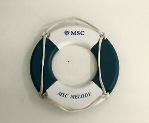 VINTAGE NAUTICAL MARINE SHIP SPARE MSC MELODY RINGBUOY SMALL SIZE PHOTO FRAME