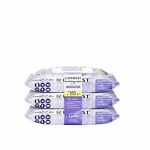 HONEST Scented Sanitizing Wipes - Lavender Field - 150ct 3 Packs of 50ct