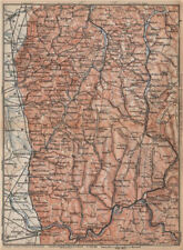 West COPRIGAMBE TOPO-MAP. Heidelberg Chimie Eberbach zwingenberg Karte 1896