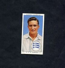 John Player - Cricketers 1938 - No 4 - D.C.S Compton - Middlesex & England.