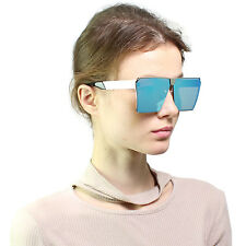 Bar Large Retro VINTAGE Square Cat Eye Aviator Big Flat Top Oversized Sunglasses
