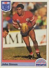 1992 NRL REGINA ILLAWARRA STEELERS JOHN SIMON #95 CARD FREE POST DRAGONS