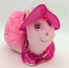 "1985 Tonka Keypers Pink Fancy Snail Plush Toy Sparkle & Satin 14"""