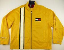 Vintage Tommy Hilfiger Men XL Yellow White Blue Flag Full Zip Windbreaker Jacket