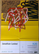 GERMAN EXHIBITION POSTER 2003 JONATHAN LASKER eternal silence of infinite space