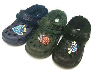 Baby Boy Kids Garden Clogs Shoes Toddler Two-tone Slipper Winter Sandals