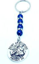 St Christopher & Guardian Angel Keyring, New Driver gift, Safe journey, talisman