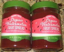 Trader Joe's Limited Organic Watermelon Fruit Spread Seasonal 10 oz. Jam, 2pc