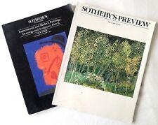 Two Vintage Sotheby's Auction Catalog Nov. 1991 Modern Art & Nov, 1995 Preview