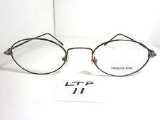 7da76f8d8bad Vtg 80s Eyeglass Frame Unmarked BISS026 Dark Brown Antique Gold (LTP-11)