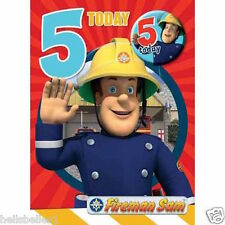 "OFFICIAL FIREMAN SAM ""5TH"" BIRTHDAY CARD WITH FREE BADGE*** FREE 1ST CLASS P&P**"