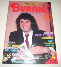 BURRN! 4/85 Japan Magazine Purple Quiet Riot Crue Osbournes Krokus Queensryche
