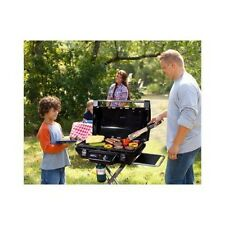 Bbq Propane Grill Garden Portable Trailer Wheels Barbeque Trolley Smoker Cooking